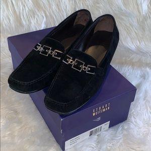 Stuart Weizmann black suede loafers size 8.5